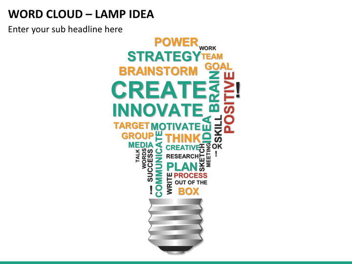 how to create a word cloud in powerpoint