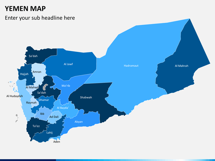 Yemen map PPT slide 1