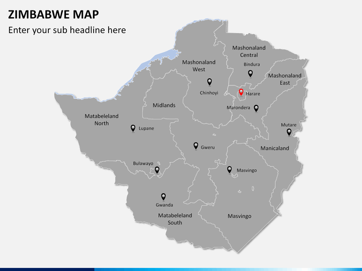 Zimbabwe Map PowerPoint SketchBubble