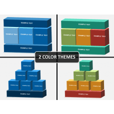 3D blocks structure PPT slide 1