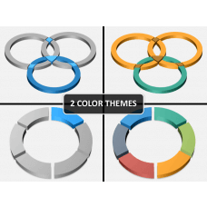 3D circle shapes PPT cover slide