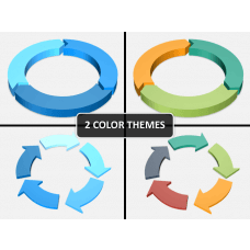 3d circular arrows PPT cover slide