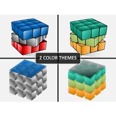 3D cube PPT cover slide
