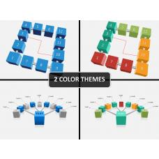 3d cubes process PPT cover slide