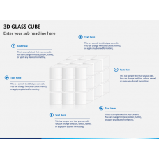 3D glass cube PPT slide 1