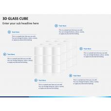3D glass cube PPT slide 1
