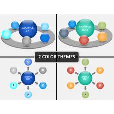 3D sphere PPT cover slide