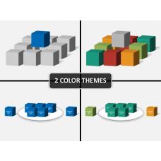 3D squares PPT slide 1