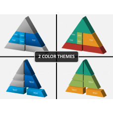 3D triangle PPT cover slide
