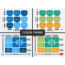 9 Box model PPT cover slide