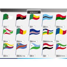 Africa flags PPT slide 1