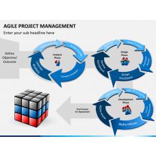 Agile project management PPT slide 1