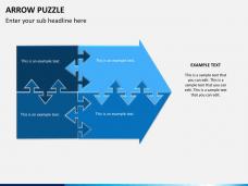 Arrow puzzle PPT slide 1