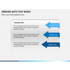 Arrows and Text Boxes PPT Slide 1