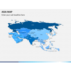 Asia map PPT slide 18
