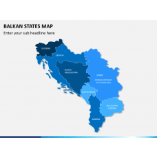 Balkan states map PPT slide 2