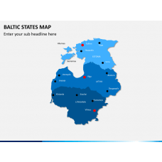 Baltic states map PPT slide 2