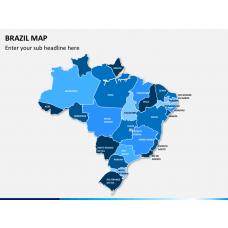 Brazil map PPT slide 16