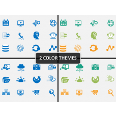Big data icons PPT cover slide