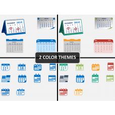 Calendar icons PPT slide 1
