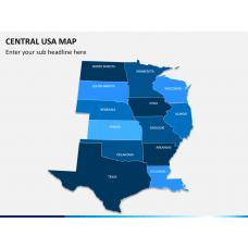 Central usa map PPT slide 1