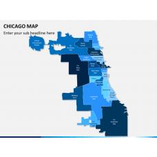 Chicago map PPT slide 1