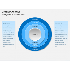 Circle diagram PPT slide 1