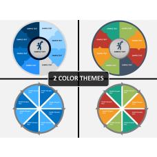 Circle segments PPT cover slide