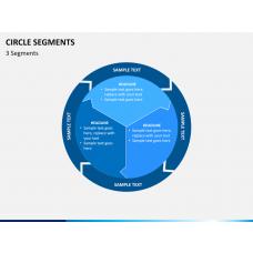 Circle segments PPT slide 1