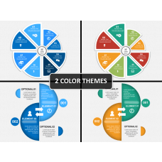 Circle Split Diagram PPT cover slide