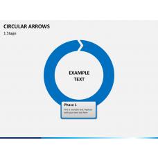 Circular arrows PPT slide 1