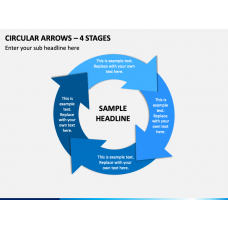 Circular Arrows – 4 Stages PPT Slide 1