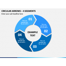 Circular Arrows – 4 Segments PPT Slide 1