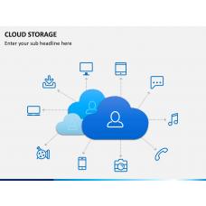 Cloud storage PPT slide 1