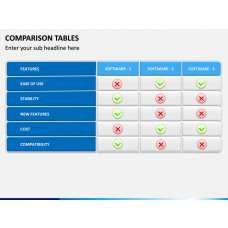 Comparison table PPT slide 1