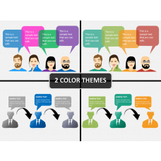 Dialogue shapes PPT cover slide