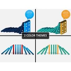Domino effect PPT cover slide