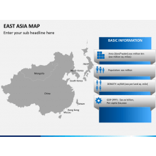 East asia map PPT slide 4