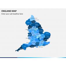 England map PPT slide 1