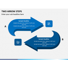 Two Arrow Steps PPT slide 1