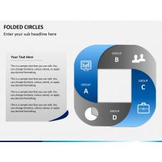 Folded circles PPT slide 1