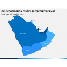 Gulf council map PPT slide 1
