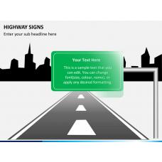 Highway signs PPT slide 1