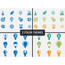 Idea Innovation Icons PPT cover slide