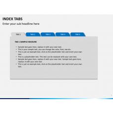 Index tabs PPT slide 1