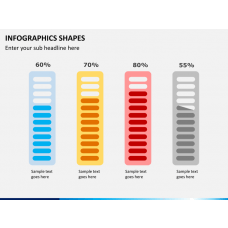 Infographic shapes PPT slide 1