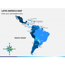 Latin america map PPT slide 2