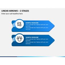 Linear Arrows – 2 Stages PPT Slide 1