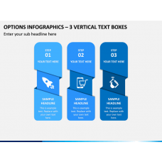 Options Infographics – 3 Vertical Text Boxes PPT Slide 1