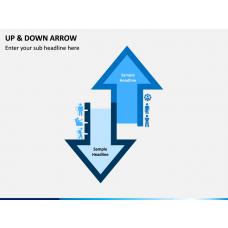 Up & Down Arrow PPT slide 1